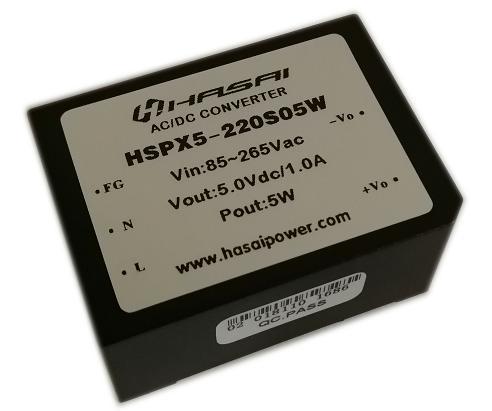 ACDC电源模块隔离稳压HSPX5W系列